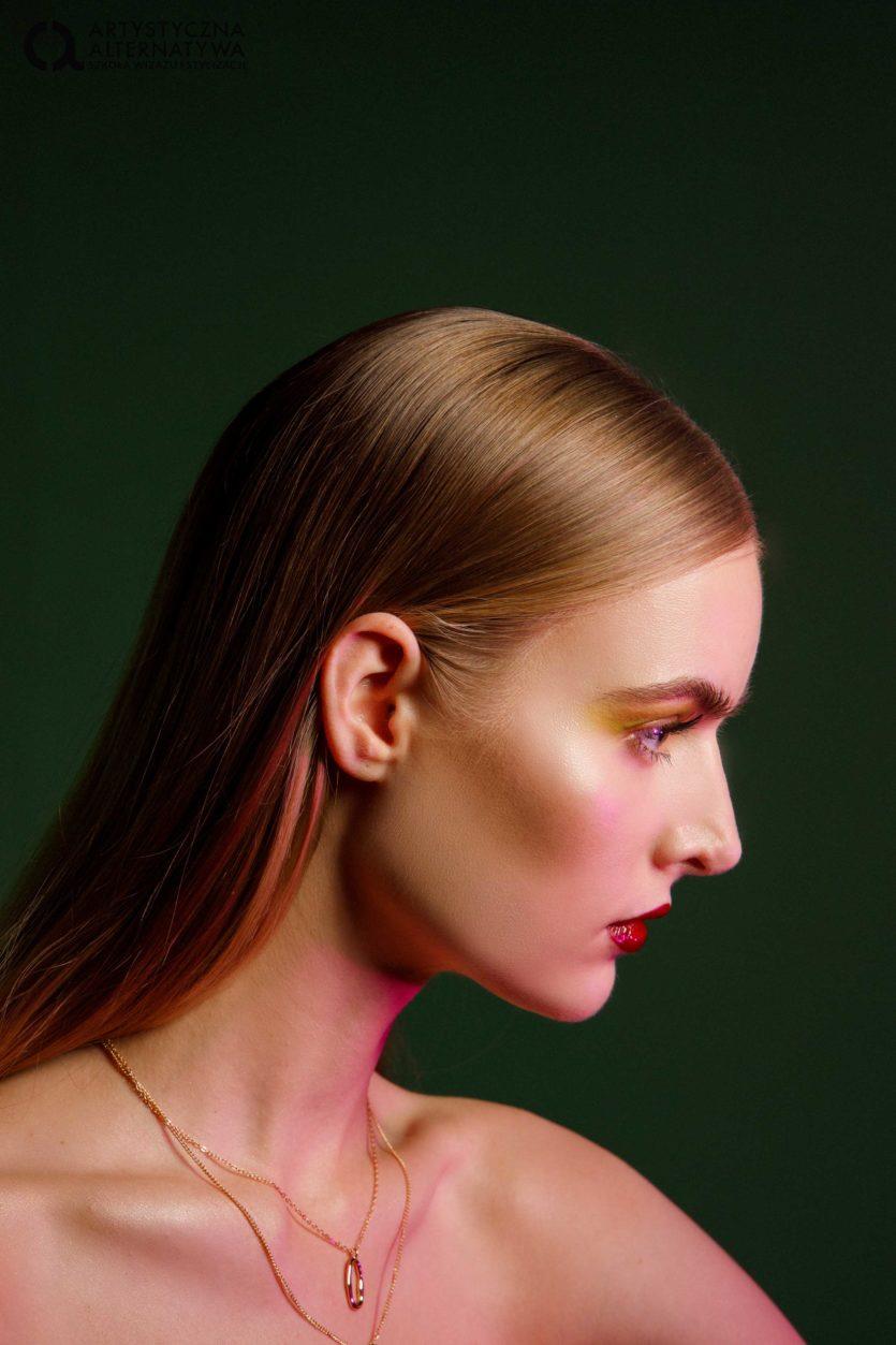Sesja zdjęciowa makijaż glamour