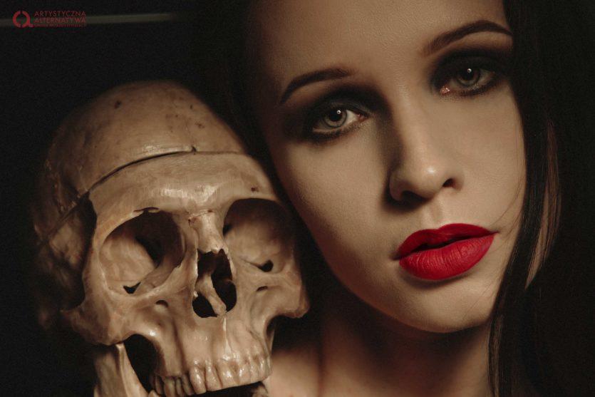 Sesja zdjęciowa makijaż smoky