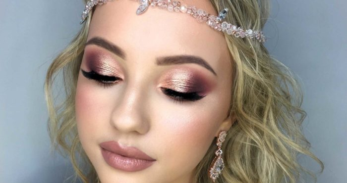 Makijaż ślubny z pigmentami