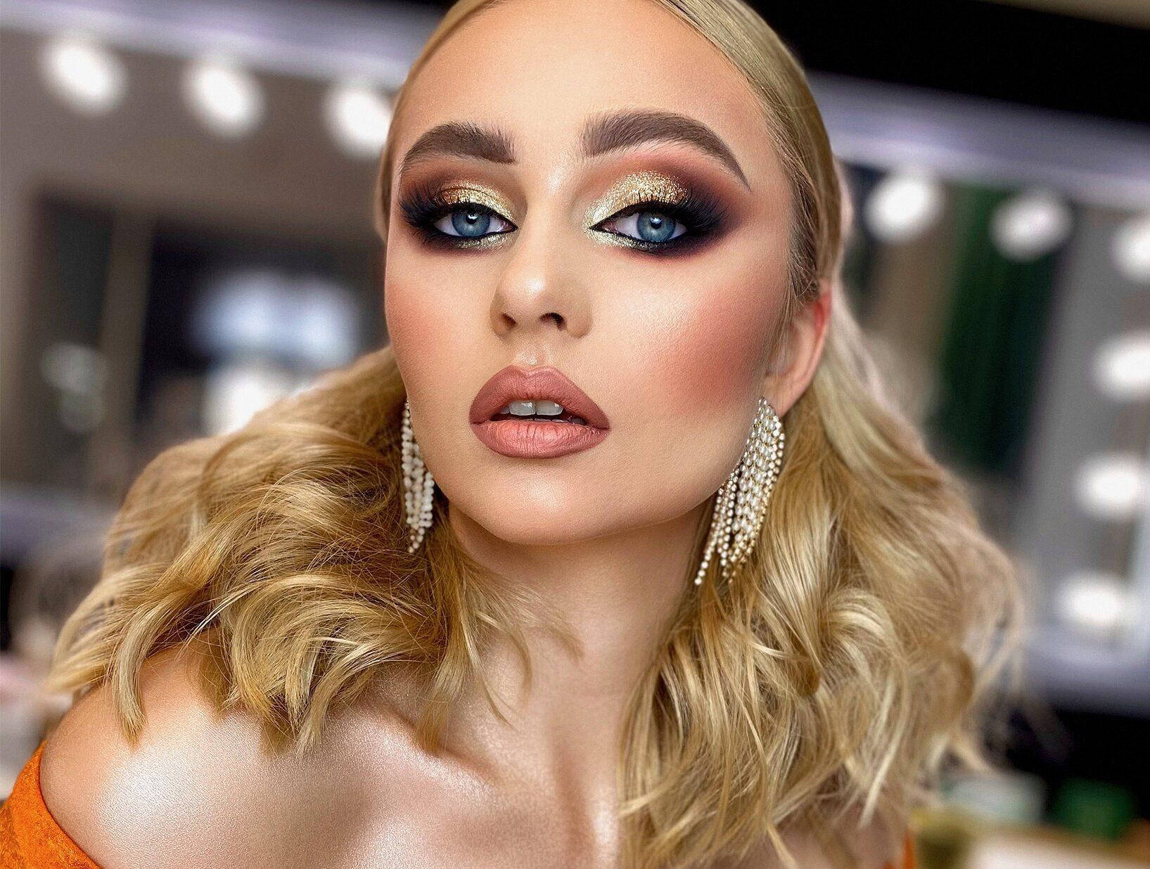 Makijaż wieczorowy glamour z elementami makijażu fotograficznego. Kurs PRO z Marzeną Tarasiewicz
